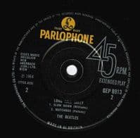 THE BEATLES Long Tall Sally EP Vinyl Record 7 Inch Parlophone...